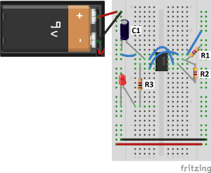 555 Timer Flashing LED