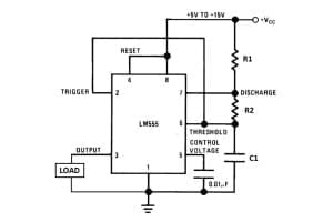 555 timer astable mode circuit
