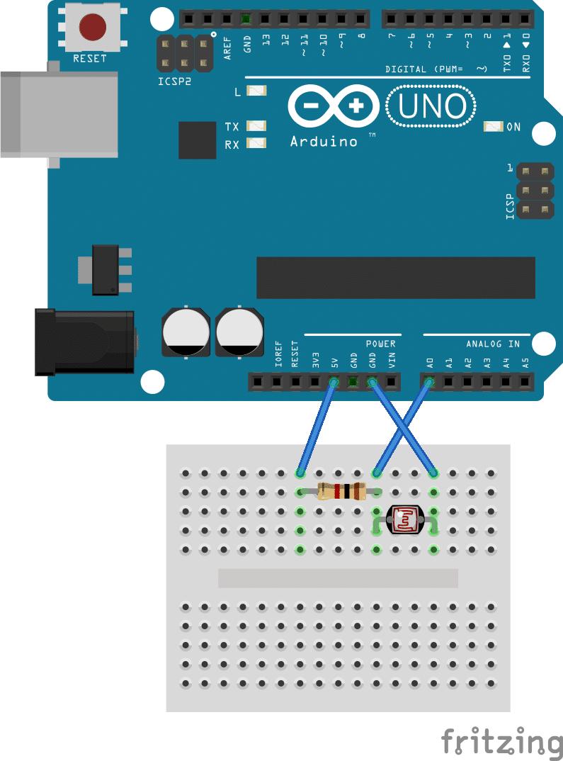 Photoresistor LED