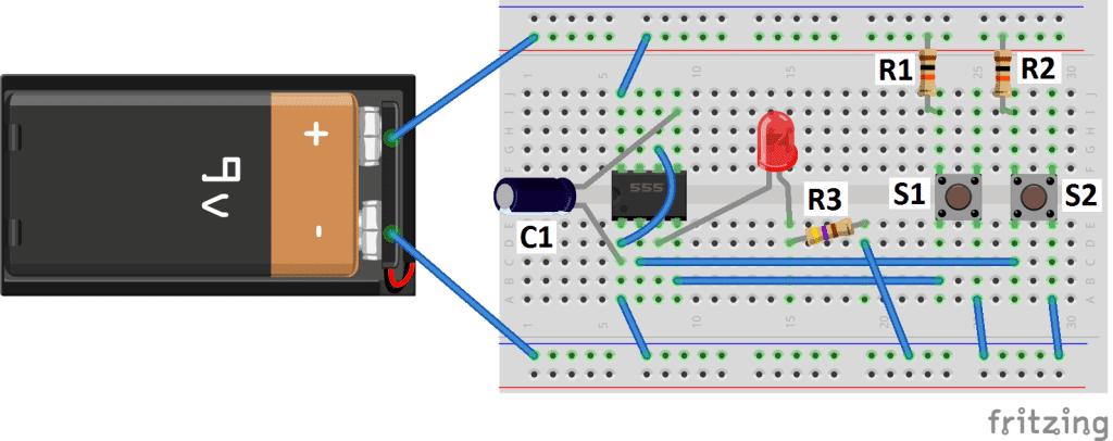 555 Timer Basics  Bistable Mode