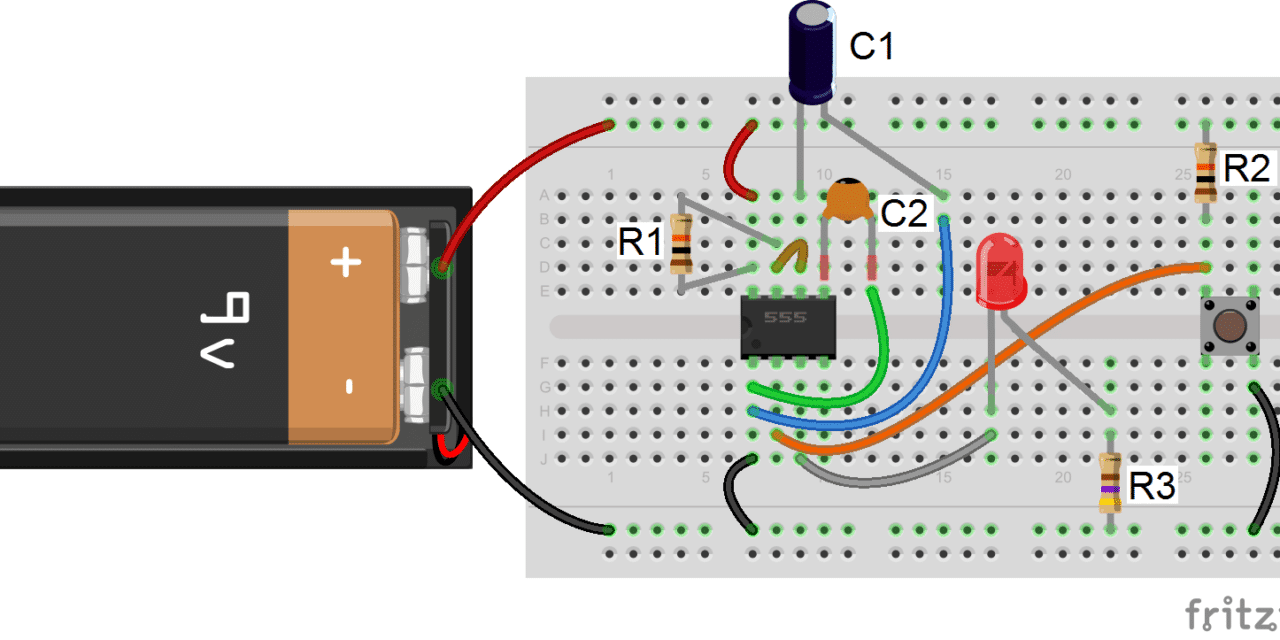 555 Timer Basics Monostable Mode Wiring Leds For Dummies Together With Diagram Symbols Further