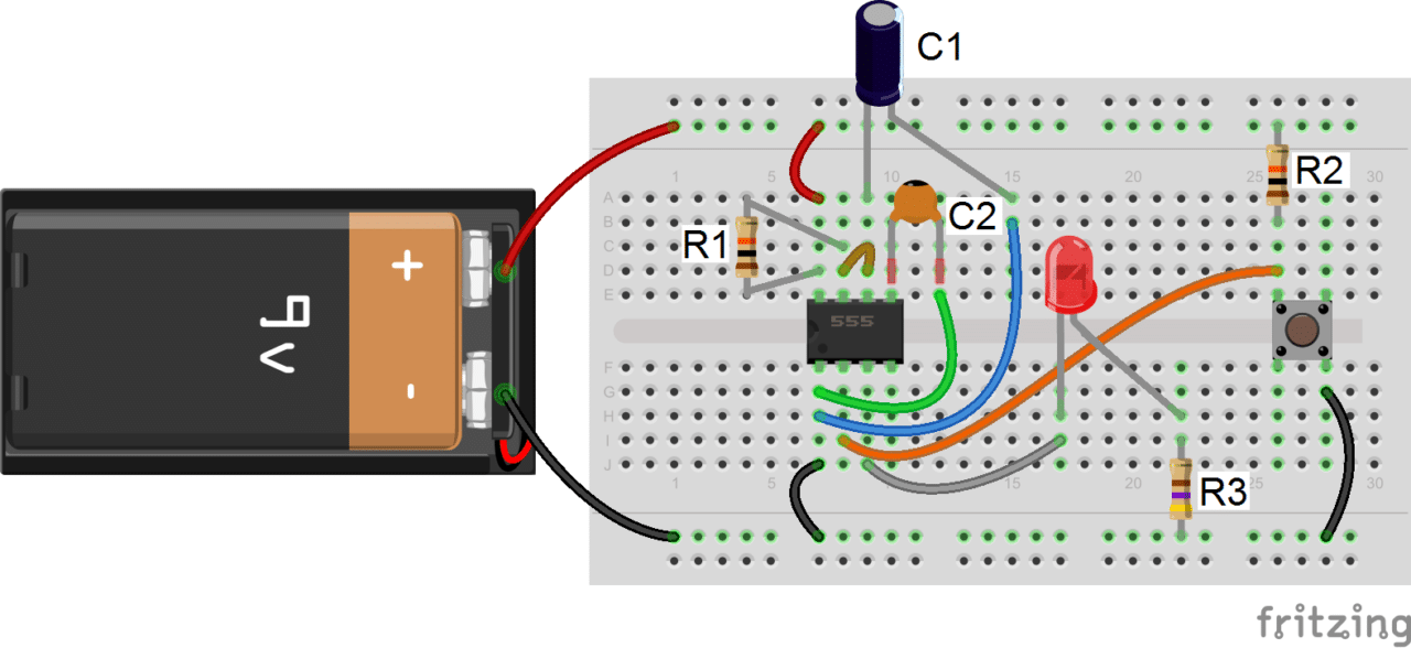 timer basics monostable mode