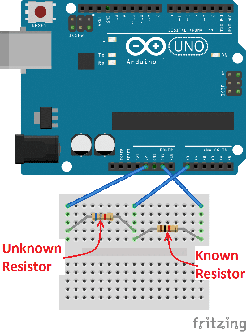 How To Make An Arduino Ohm Meter Variable Resistor Circuit
