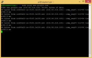 How to Set Up WiFi on the Raspberry Pi - Ping Google