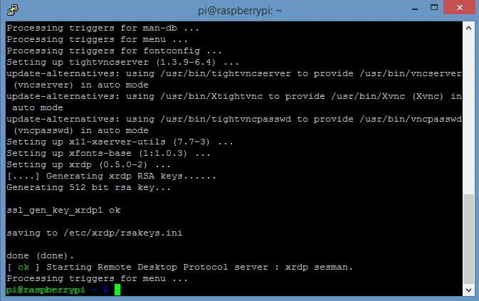 after xrdp install