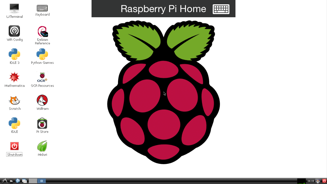Laptop on raspberry pi 3