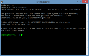 raspi after entering password, before sudo raspi-config