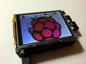 Raspberry Pi LCD touchscreen in landscape orientation
