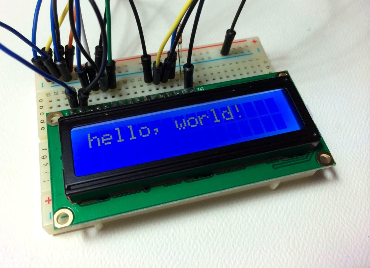 Arduino Lcd Set Up And Programming Guide Wiring Diagram Free Download Schematic Display Options