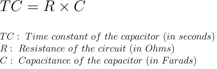 Arduino Capacitance Meter - Time Constant Formula