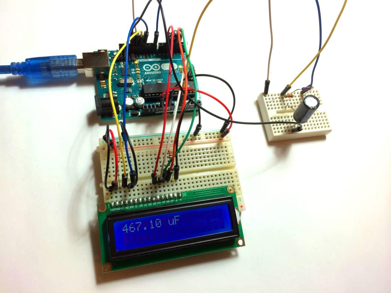 How To Make An Arduino Capacitance Meter Components Of A Sound Level Schematic