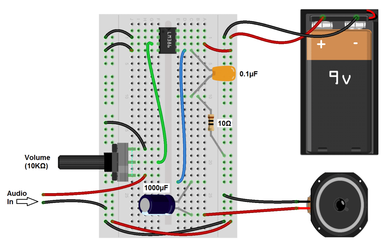Build A Great Sounding Audio  lifier With Bass Boost From The Lm386 on wiring up a potentiometer