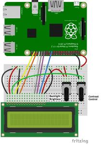 Raspberry Pi LCD 4 bit mode