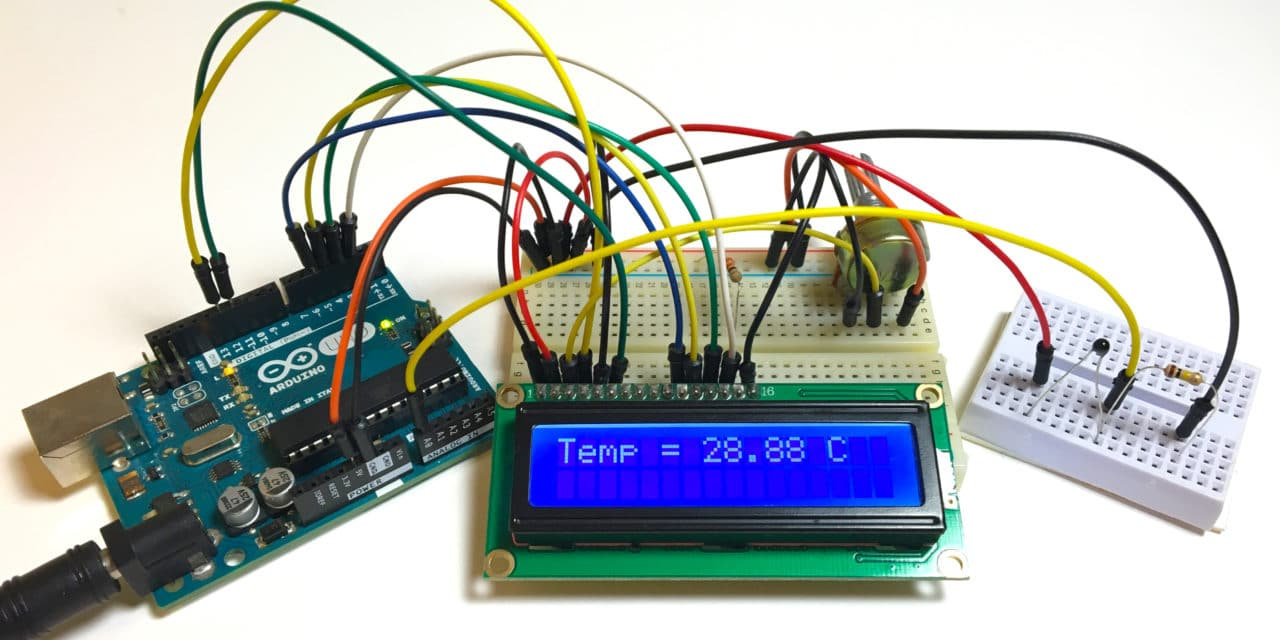 Make An Arduino Temperature Sensor Thermistor Tutorial Digital Thermometer Schematics