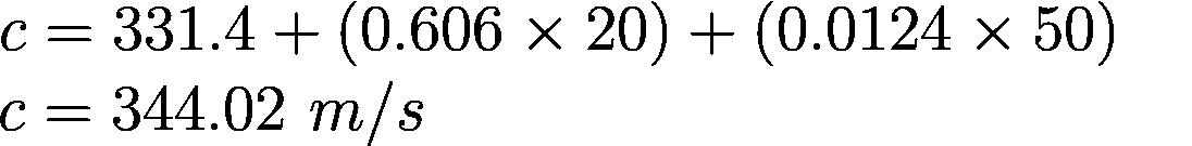 Arduino Ultrasonic Range Finder Tutorial - Speed of Sound Formula Example
