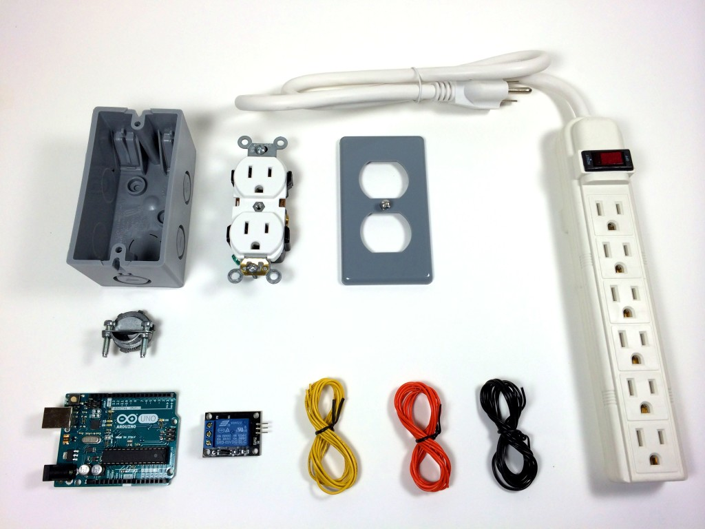 Build an Arduino Controlled Power Outlet - All of the Necessary Parts