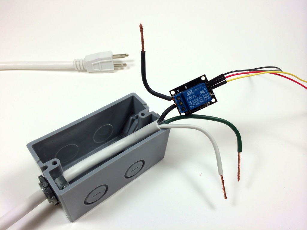 Build an Arduino Controlled Power Outlet - Wiring the 5V Relay to the Hot Wire
