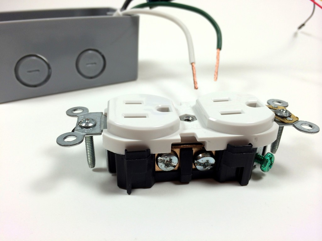 Build an Arduino Controlled Power Outlet - View of the Neutral Terminal Screw