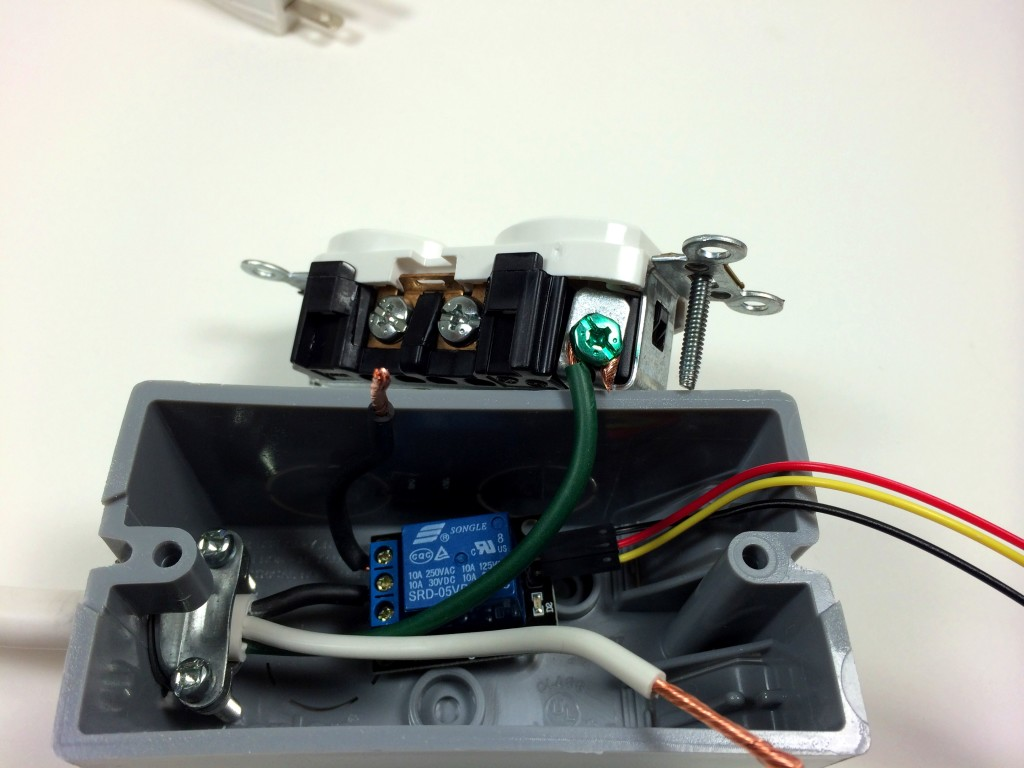 Build an Arduino Controlled Power Outlet - Attaching the Ground Wire