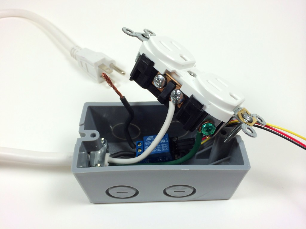 Build an Arduino Controlled Power Outlet - Attaching the Neutral Electrical Wire