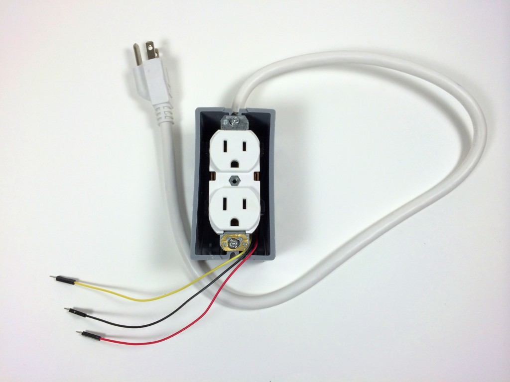 Build an Arduino Controlled Power Outlet - Without Electrical Box Cover Plate