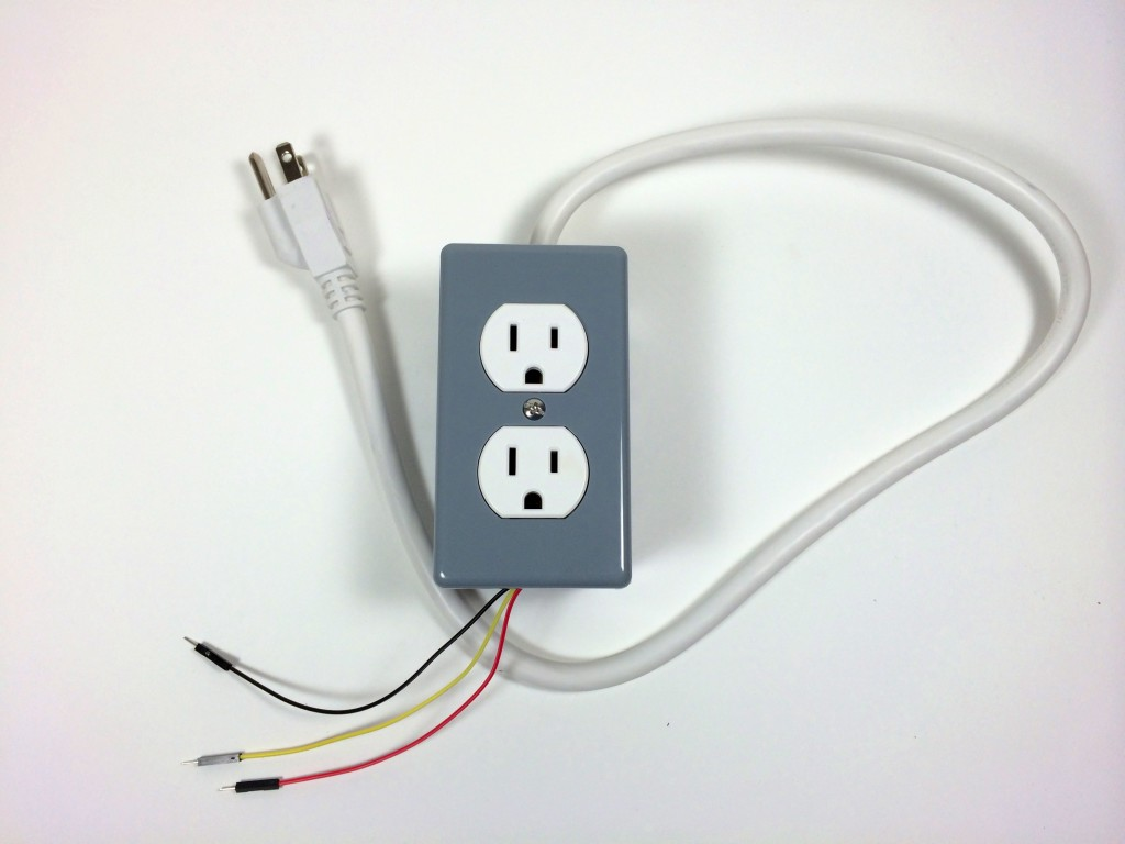 Build an Arduino Controlled Power Outlet - The Completed Electrical Outlet Box Top View