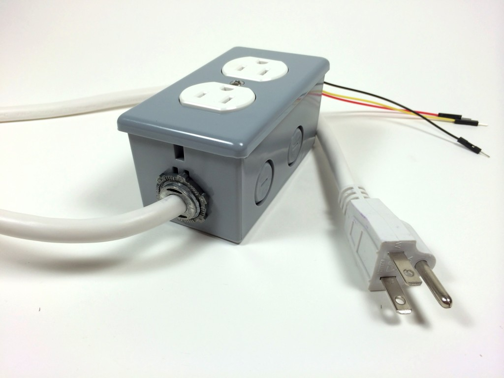 Build an Arduino Controlled Power Outlet - The Completed Electrical Outlet Box
