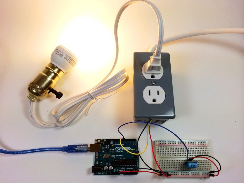 Turn Any Appliance Into A Smart Device With An Arduino Controlled Switch Outlet Wiring As Well Electrical Light Build Power Dht11 Humidity And Temperature Sensor Controlling Bulb