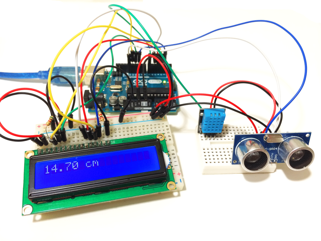 Arduino High Accuracy Ultrasonic Range Finder with Temperature and Humidity