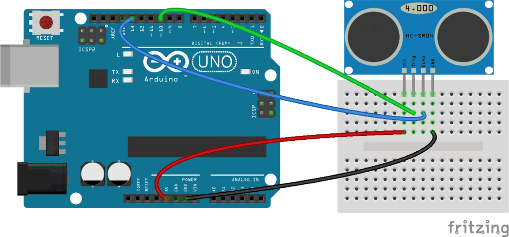Arduino Ultrasonic Range Finder