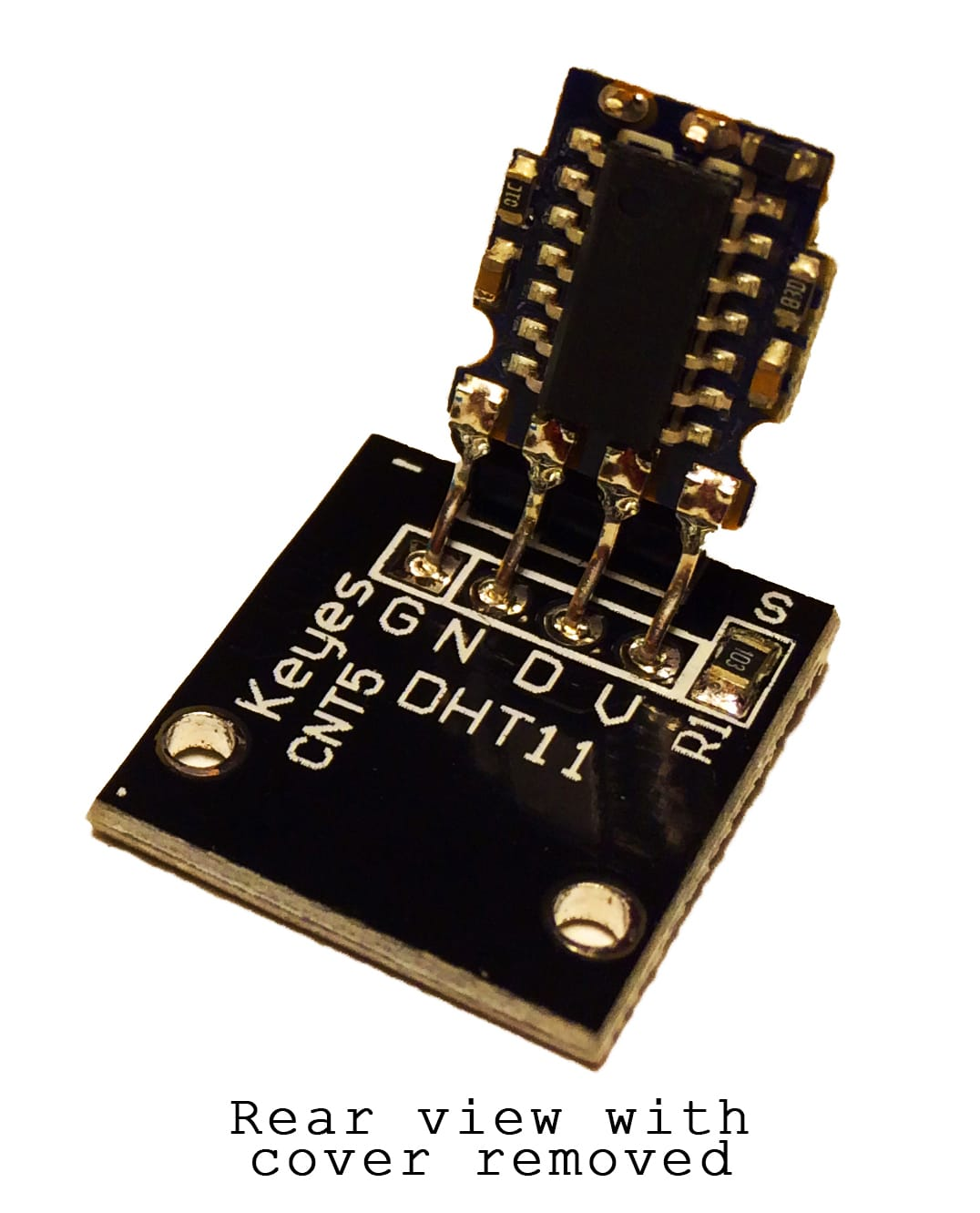 DHT11 Temperature and Humidity Sensor Inside Back with Cover Removed