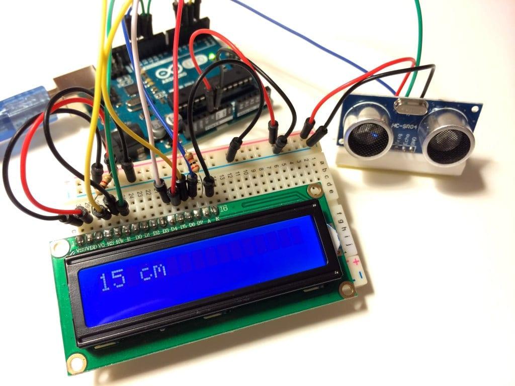 LCD Çıkışlı Arduino'da Ultrasonik Mesafe Bulucu