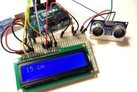 Ultrasonic Range Finder on Arduino With LCD Output