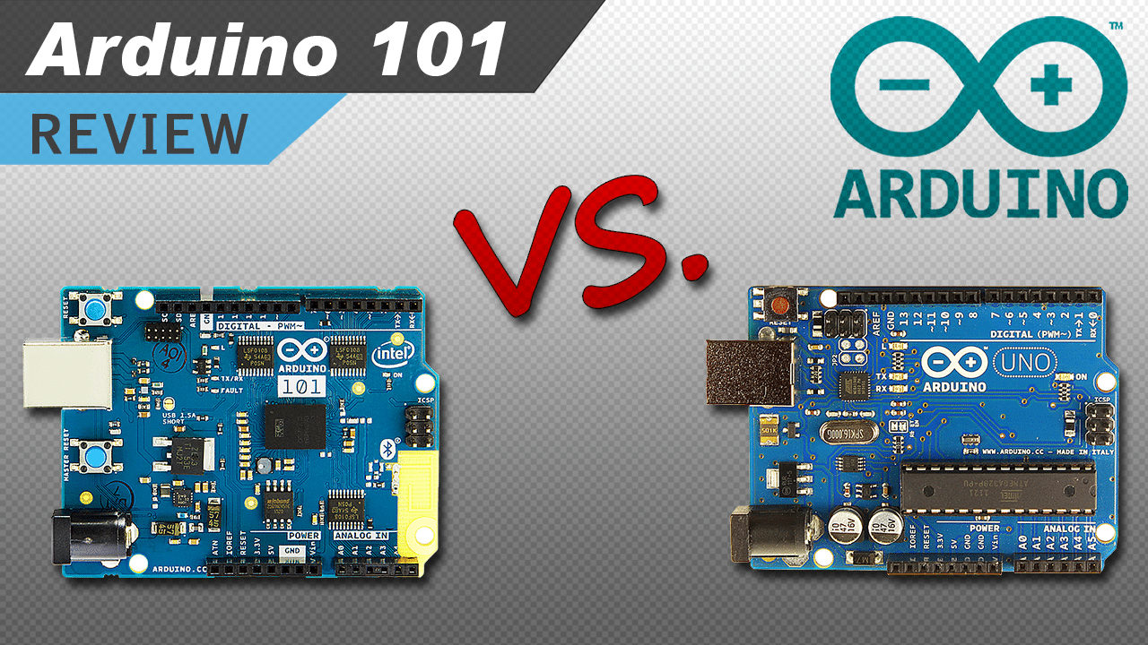 [VIDEO] The New Arduino 101 (Genuino 101) –  Unboxing, Set Up, and Comparing it to the Arduino Uno