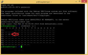 Raspberry Pi LCD - I2C Connections - I2C detect