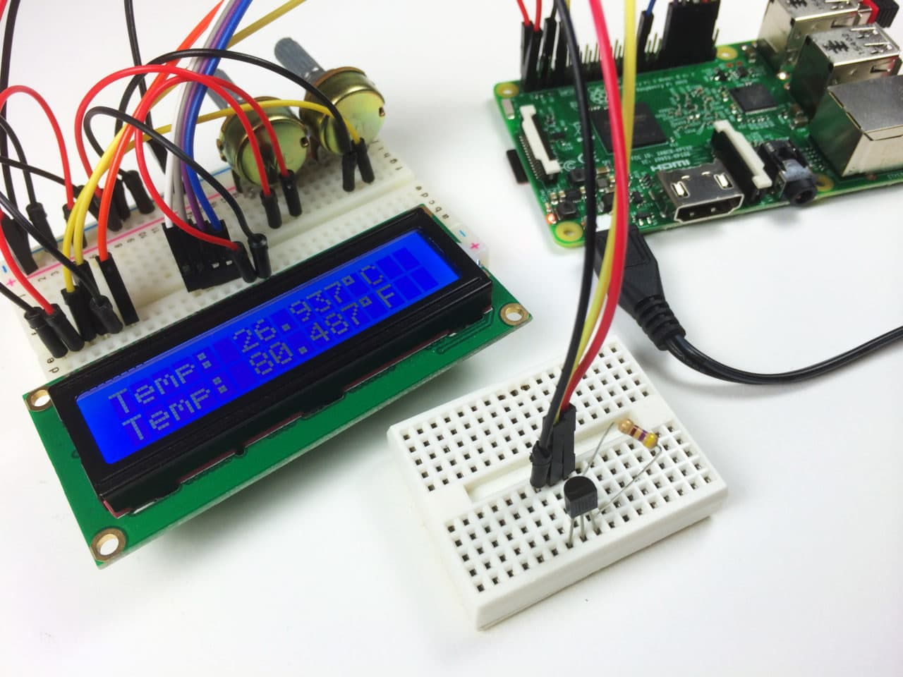 Raspberry Pi Ds18b20 Temperature Sensor Tutorial Circuit Basics Is Provided To This The Clock Starts From 00 Time