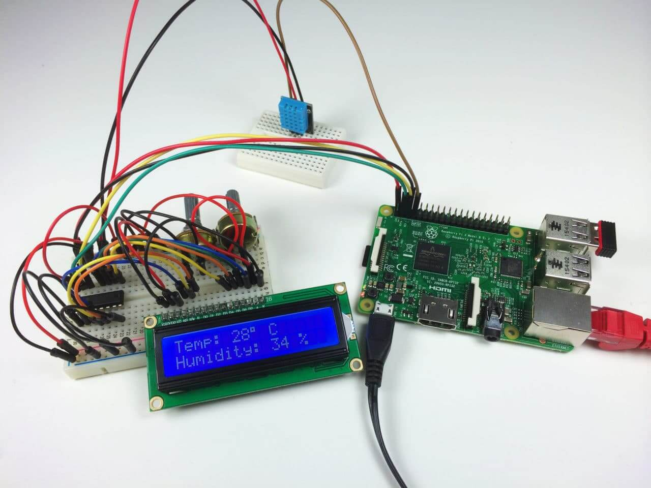 How To Setup An I2c Lcd On The Raspberry Pi Circuit Basics Led Strip Wiring