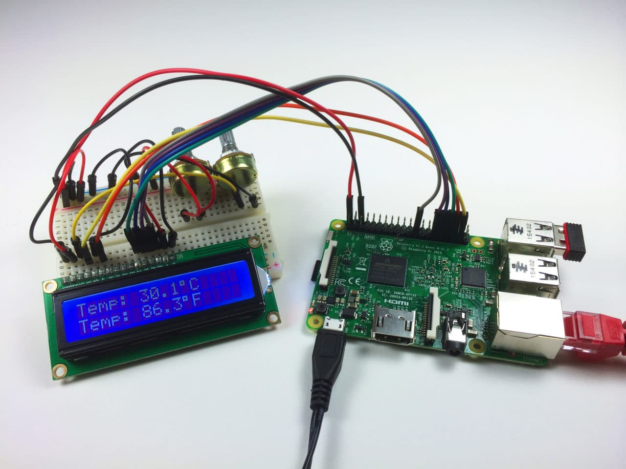 How To Setup An I2c Lcd On The Raspberry Pi Circuit Basics Spi Using Wiringpi And Program It With C