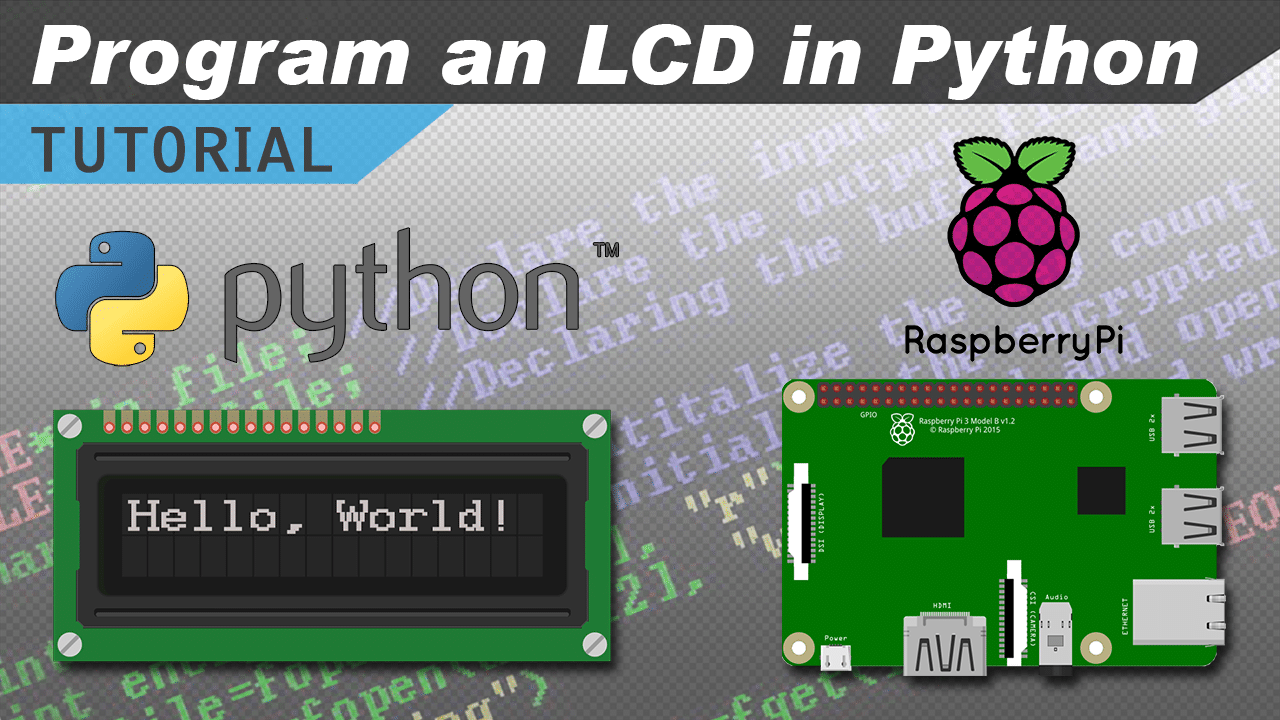 video how to setup an lcd on the raspberry pi and program it with rh circuitbasics com