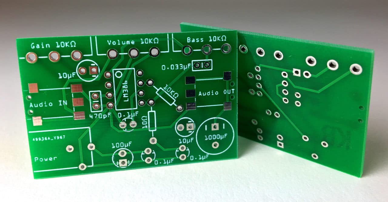 Build A Great Sounding Audio Amplifier With Bass Boost From The Lm386 Player Circuit Board Pcb Fm Radio View Mp3 How To Design Layout