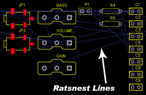 How to Make a Custom PCB - Ratsnest Lines