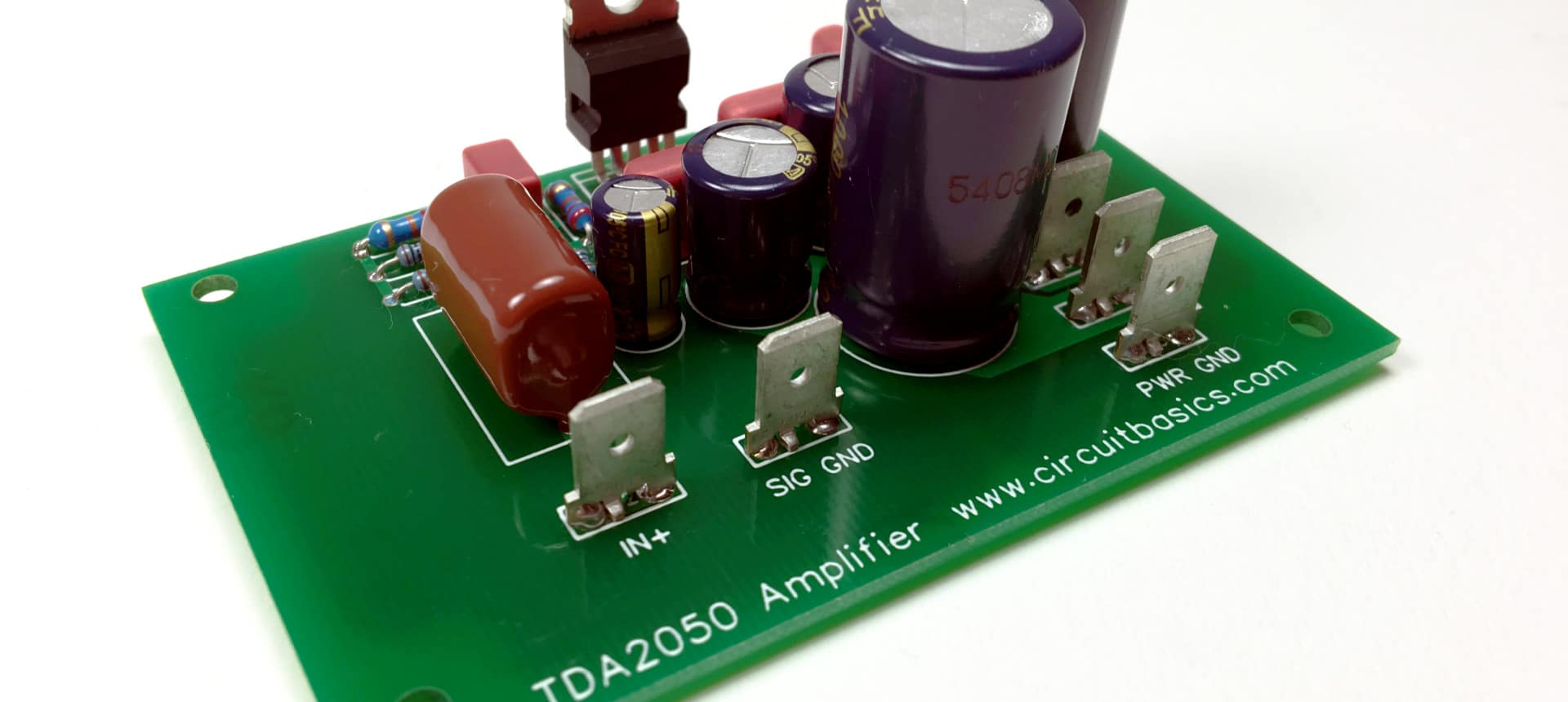 How To Design And Build An Amplifier With The Tda2050 Circuit Basics Circuits Charging A 500 F Capacitor It Charges Up