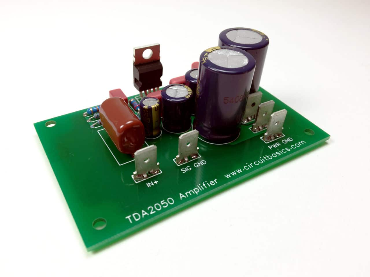 How To Design A Pcb Layout Circuit Basics Maker Schematic And Build An Amplifier With The Tda2050