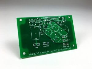 Complete TDA2050 Amplifier Design and Construction - PCB Top