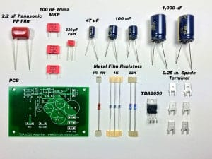 Complete TDA2050 Amplifier Design and Construction - Unassembled Amp