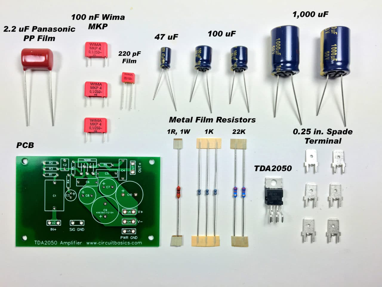 how to design and build an amplifier with the tda2050 circuit basicsit\u0027s usually easiest to solder the smaller components first, then work your way up to bigger components i use a putty called sticky tac to hold components