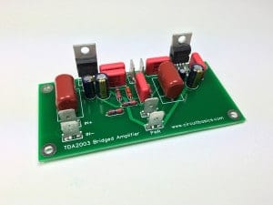 How to Build an Audio Amplifier With the TDA2003 - Assembled Bridged Amplifier