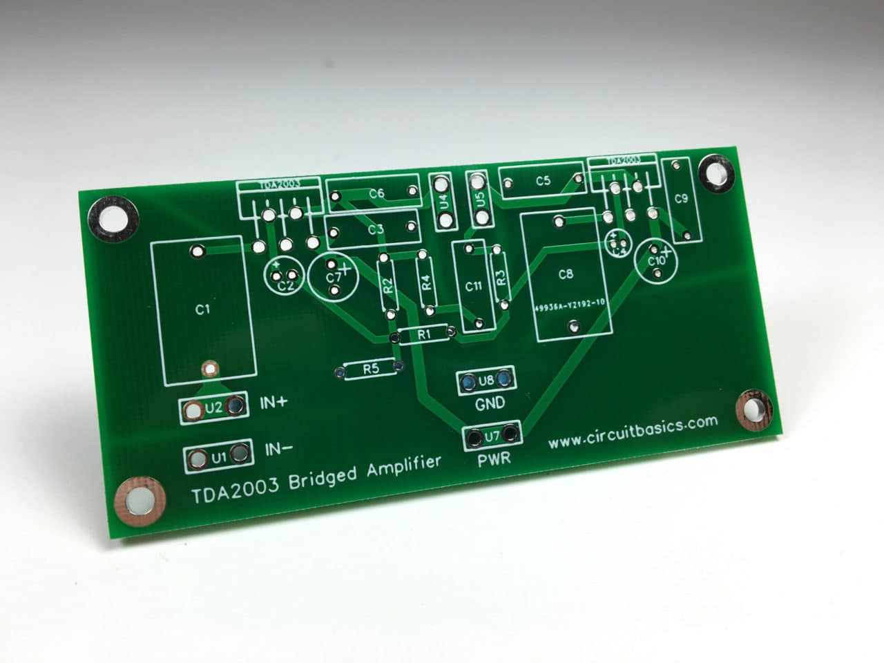 A Guide For Building Tda2003 Bridged And Stereo Amplifiers Circuit Lm380 Datasheet Audio Power Amplifier Heres The Pcb I Ordered