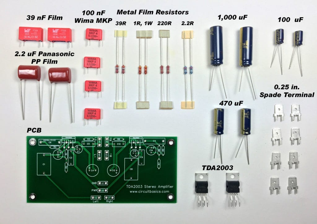 How to Build an Audio Amplifier With the TDA2003 - Stereo Amplifier Components