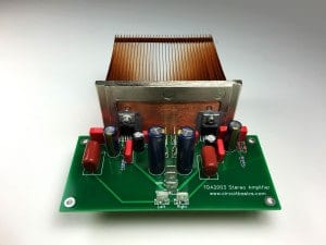 How to Build an Audio Amplifier With the TDA2003 - Stereo Assembled PCB With Heat Sink